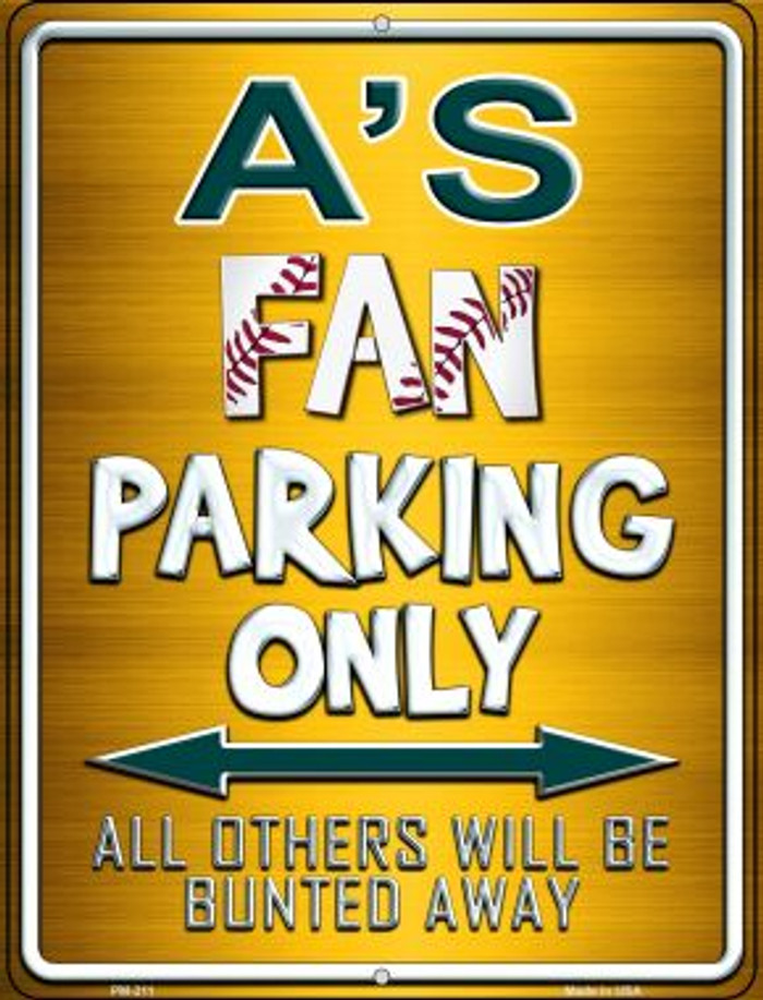 Athletics Novelty Mini Metal Parking Sign PM-211