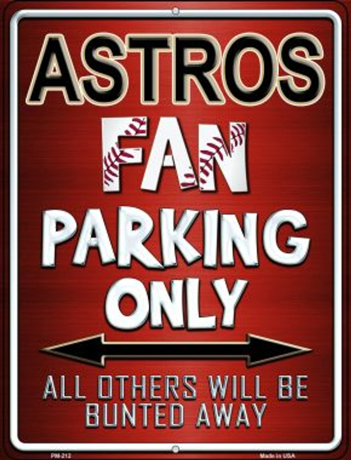 Astros Novelty Mini Metal Parking Sign PM-212