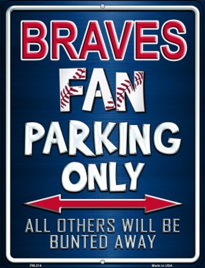Braves Novelty Mini Metal Parking Sign PM-214