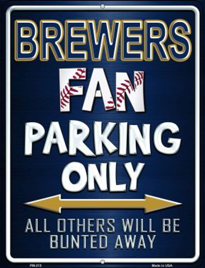 Brewers Novelty Mini Metal Parking Sign PM-215
