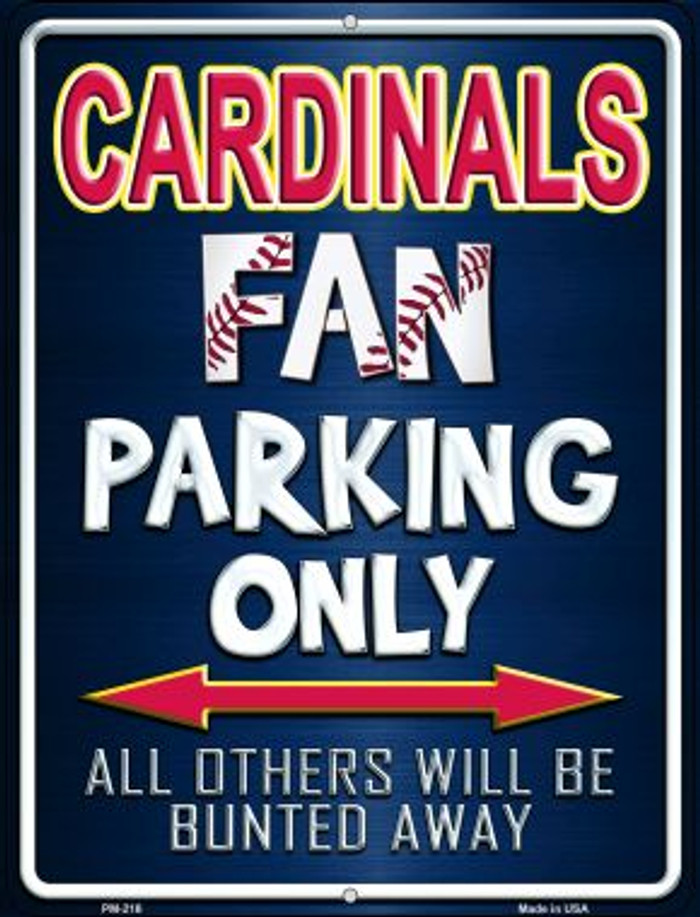 Cardinals Novelty Mini Metal Parking Sign PM-216