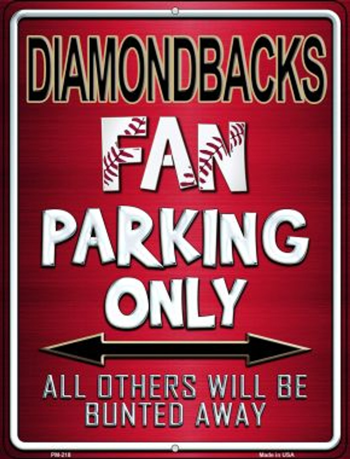 Diamondbacks Novelty Mini Metal Parking Sign PM-218