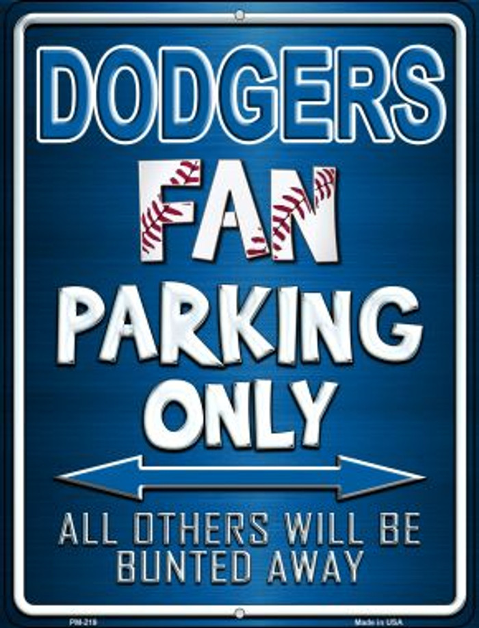 Dodgers Novelty Mini Metal Parking Sign PM-219