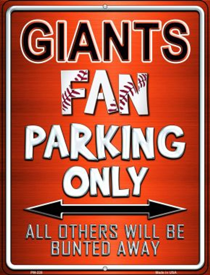 Giants Novelty Mini Metal Parking Sign PM-220