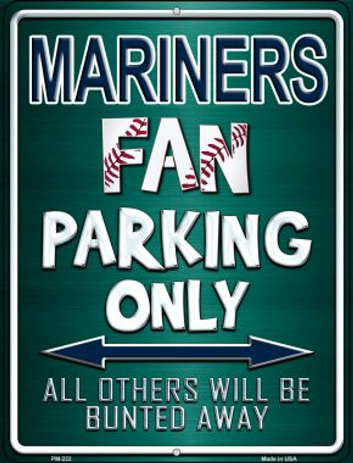 Mariners Novelty Mini Metal Parking Sign PM-222