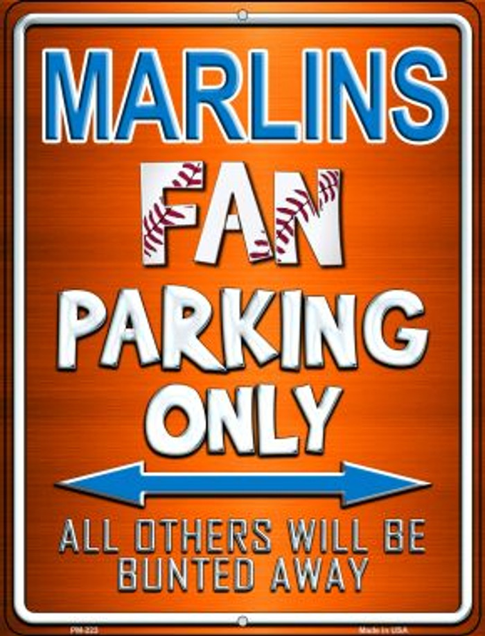 Marlins Novelty Mini Metal Parking Sign PM-223