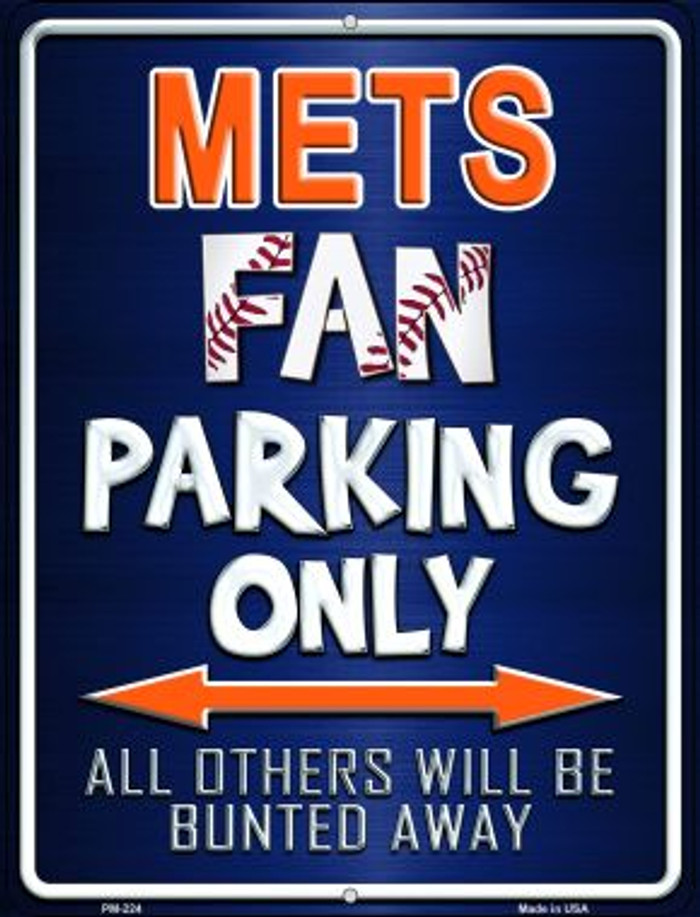 Mets Novelty Mini Metal Parking Sign PM-224