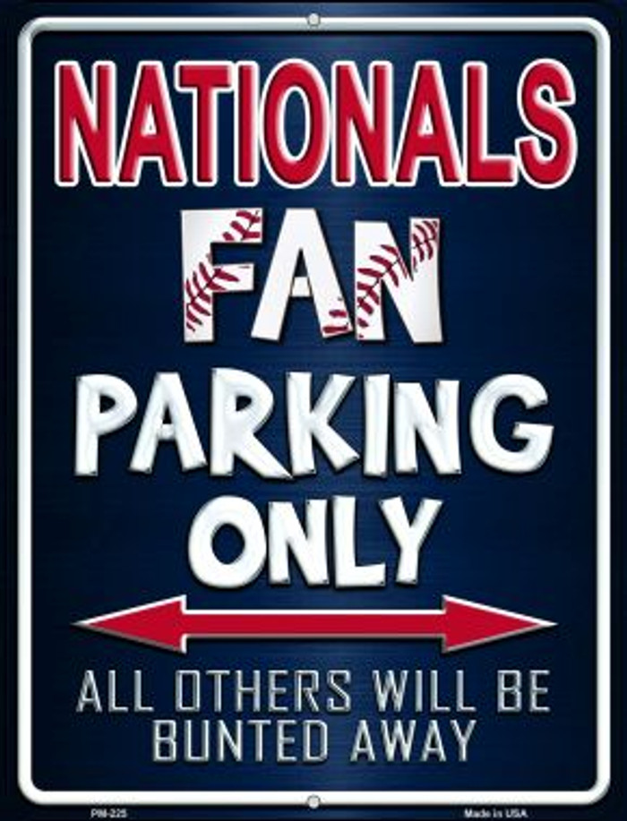 Nationals Novelty Mini Metal Parking Sign PM-225