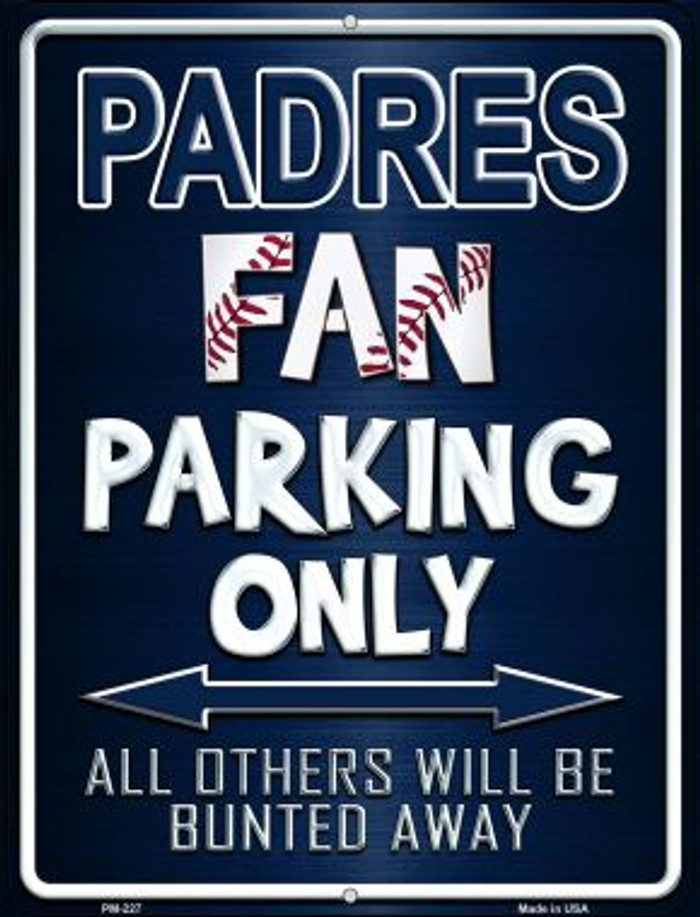 Padres Novelty Mini Metal Parking Sign PM-227