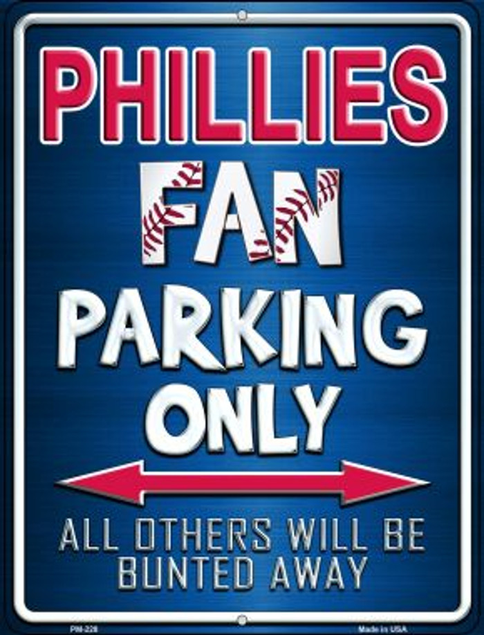 Phillies Novelty Mini Metal Parking Sign PM-228