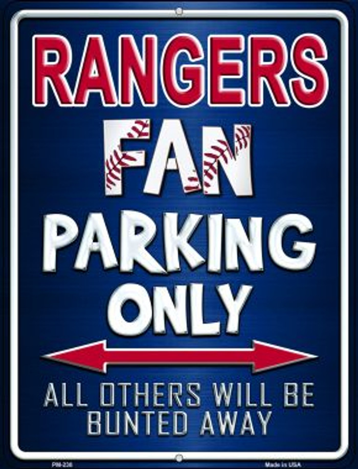 Rangers Novelty Mini Metal Parking Sign PM-230