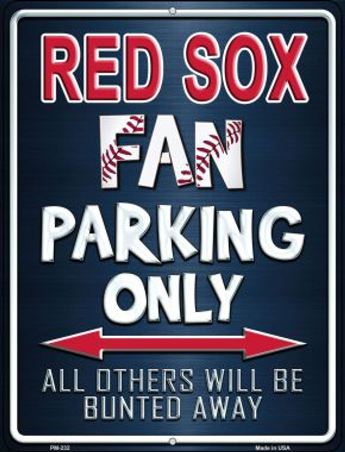 Red Sox Novelty Mini Metal Parking Sign PM-232