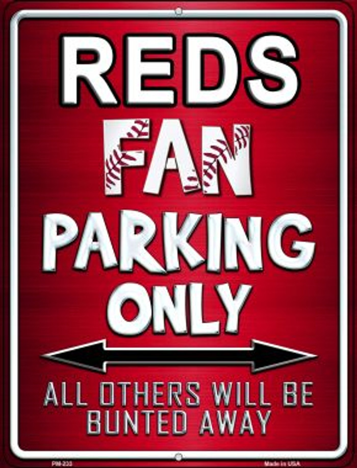 Reds Novelty Mini Metal Parking Sign PM-233
