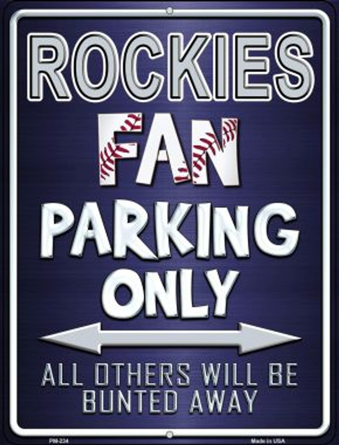 Rockies Novelty Mini Metal Parking Sign PM-234