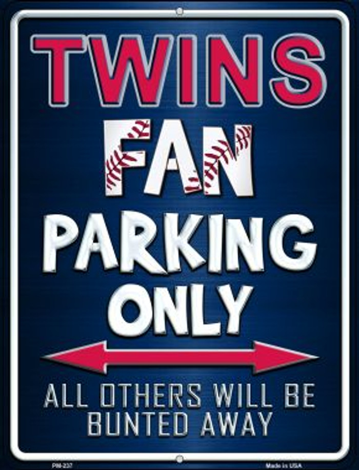 Twins Novelty Mini Metal Parking Sign PM-237