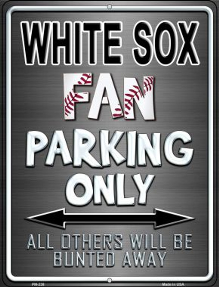 White Sox Novelty Mini Metal Parking Sign PM-238