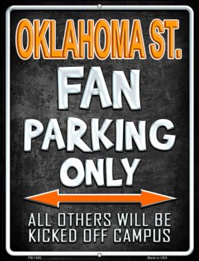 Oklahoma State Novelty Mini Metal Parking Sign PM-1400