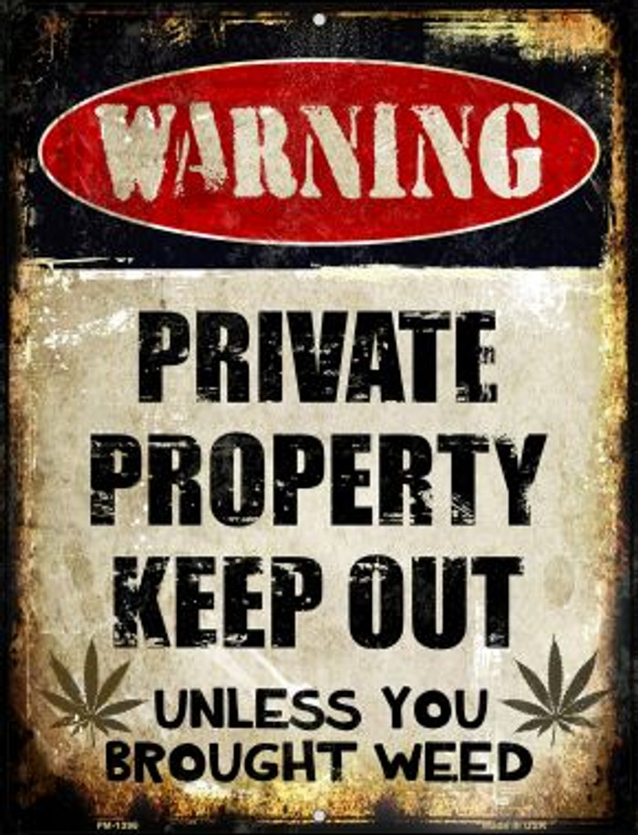 Private Property Novelty Mini Metal Parking Sign PM-1395