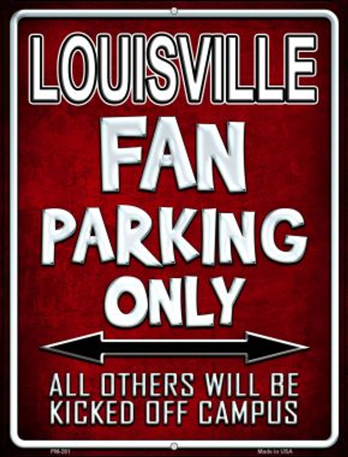 Louisville Novelty Mini Metal Parking Sign PM-281