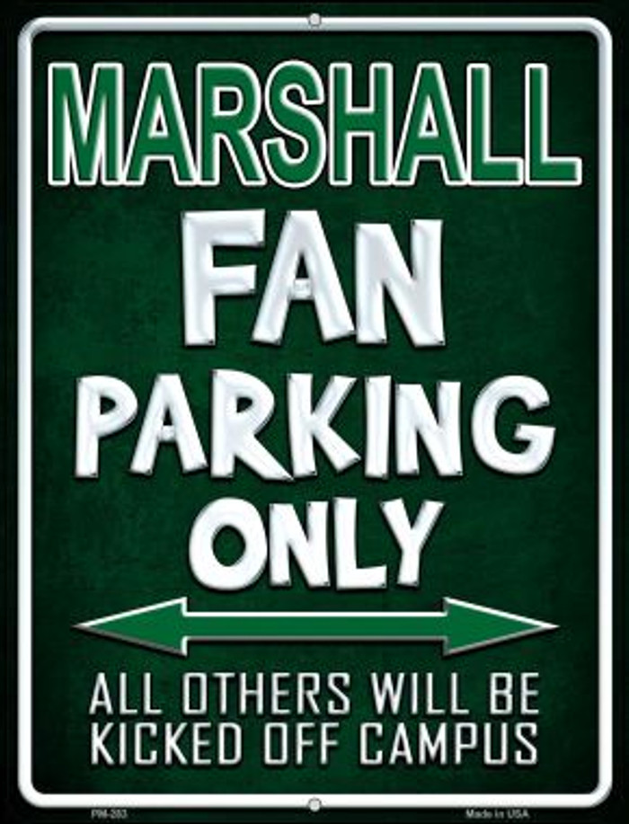Marshall Novelty Mini Metal Parking Sign PM-283