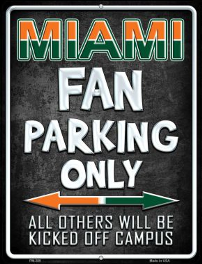 Miami Novelty Mini Metal Parking Sign PM-285
