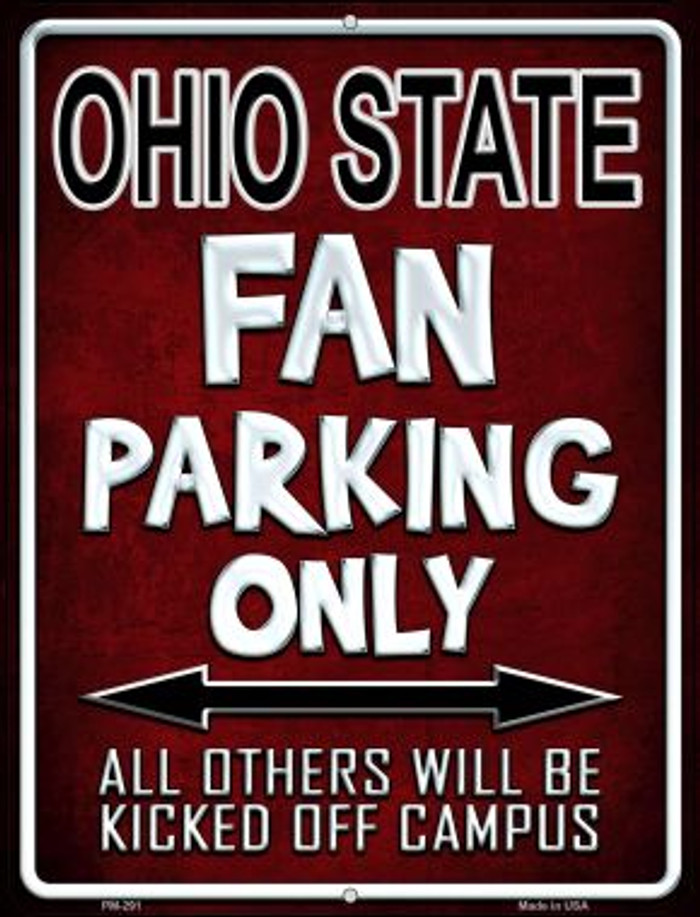 Ohio State Novelty Mini Metal Parking Sign PM-291