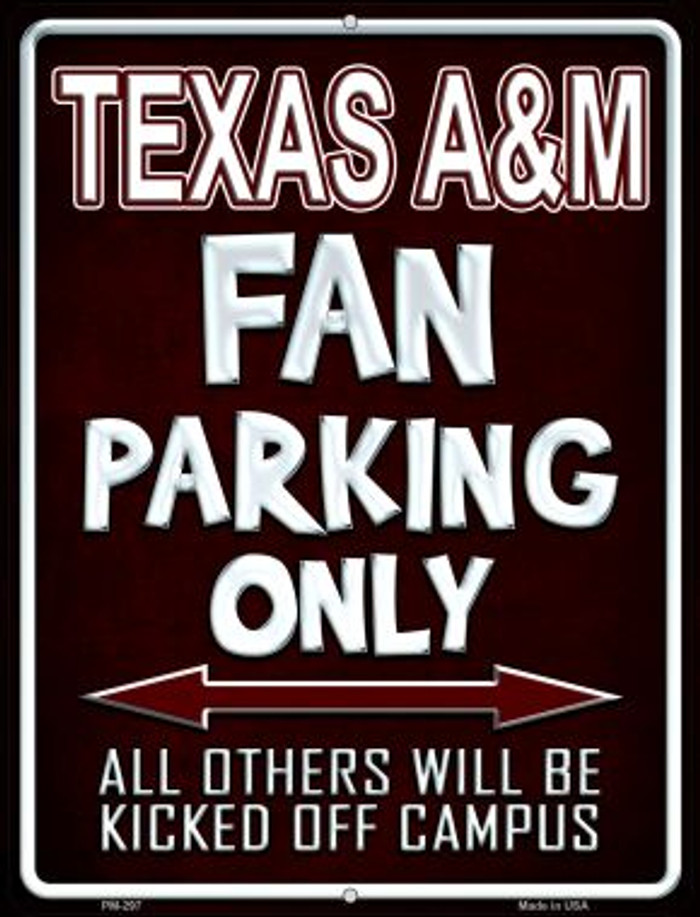 Texas A & M Novelty Mini Metal Parking Sign PM-297