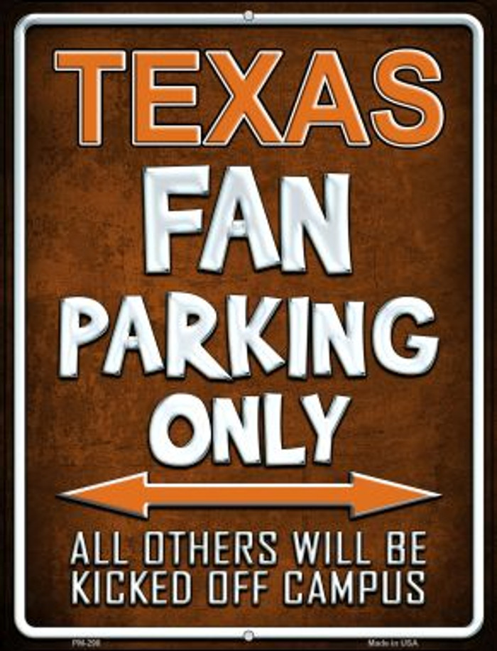 Texas Novelty Mini Metal Parking Sign PM-298