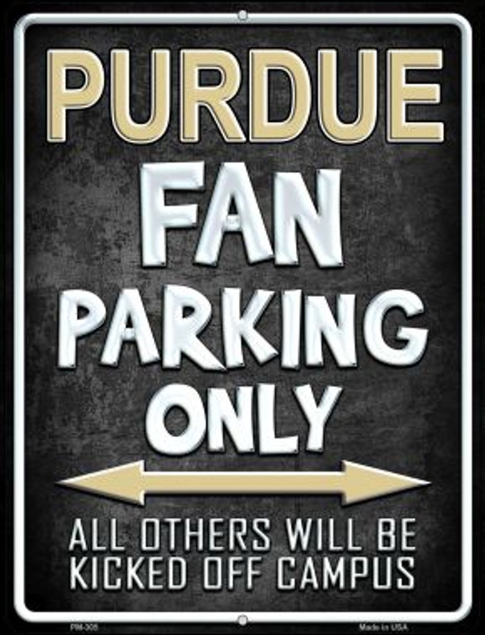 Purdue Novelty Mini Metal Parking Sign PM-305