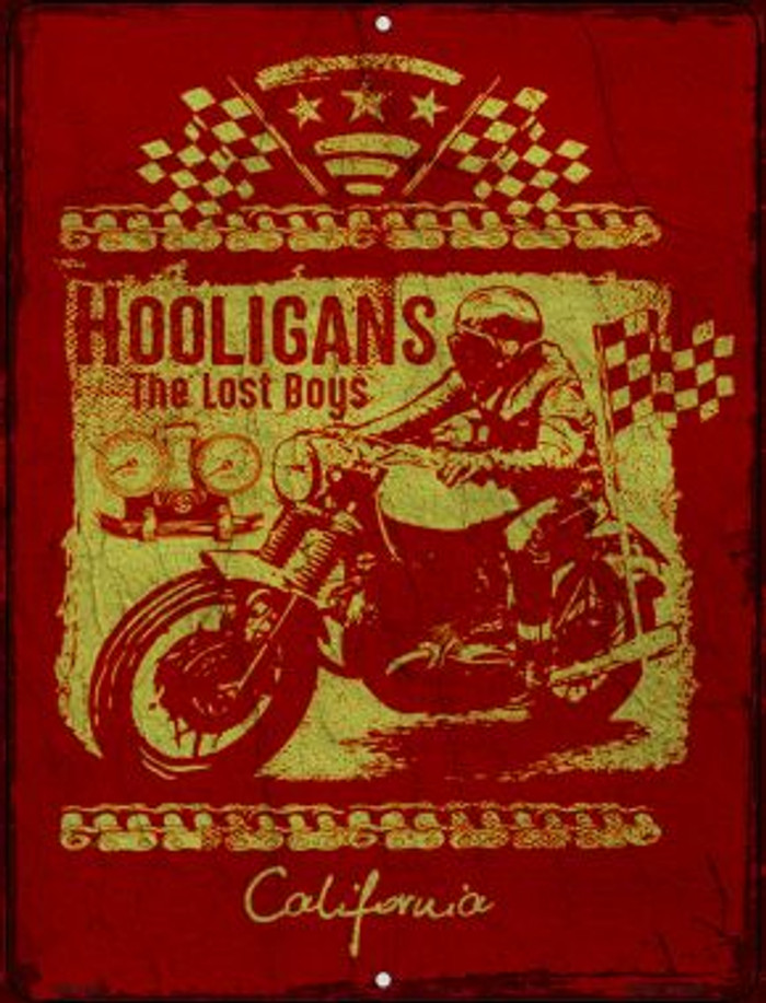 Hooligans Novelty Mini Metal Parking Sign PM-1422