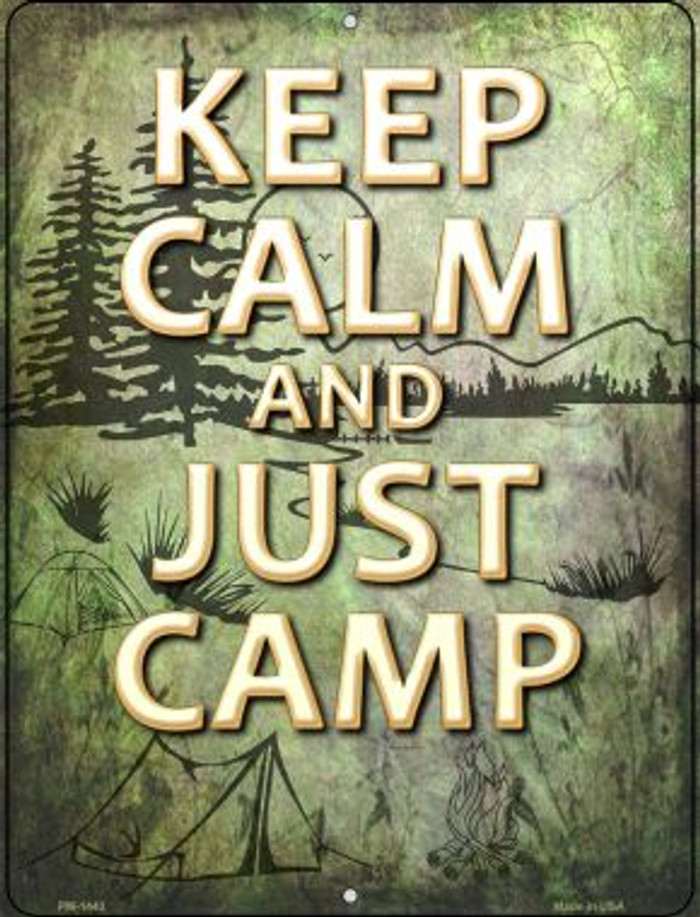 Keep Calm And Camp Novelty Mini Metal Parking Sign PM-1443