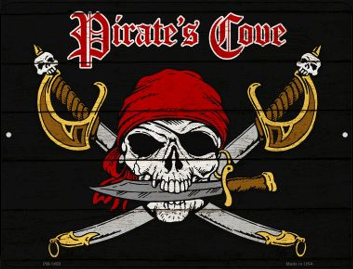 Pirates Cove Novelty Mini Metal Parking Sign PM-1458