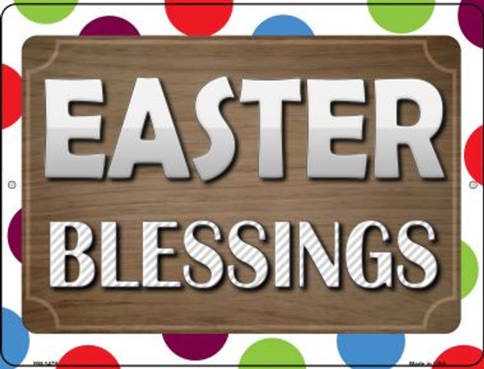 Easter Blessing Novelty Mini Metal Parking Sign PM-1478