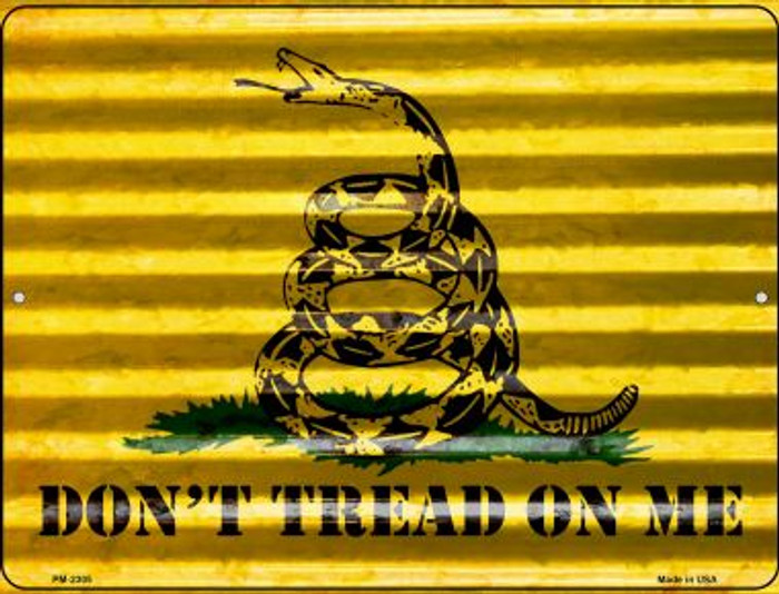 Dont Tread On Me Novelty Mini Metal Parking Sign PM-2305