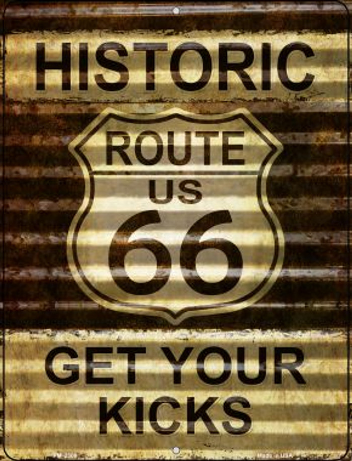 Historic Route 66 Novelty Mini Metal Parking Sign PM-2306