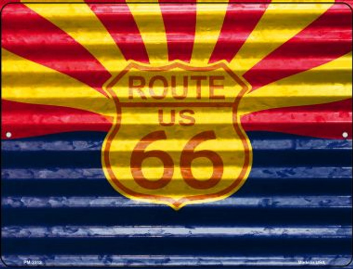 Route 66 Arizona Flag Novelty Mini Metal Parking Sign PM-2312
