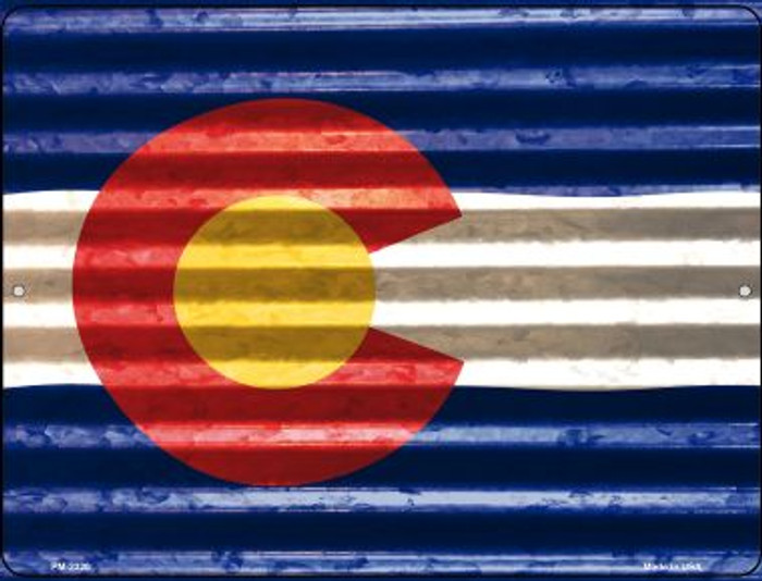 Colorado Flag Novelty Mini Metal Parking Sign PM-2320