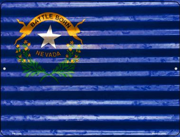 Nevada Flag Novelty Mini Metal Parking Sign PM-2342