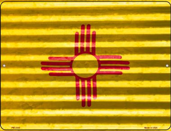 New Mexico Flag Novelty Mini Metal Parking Sign PM-2345