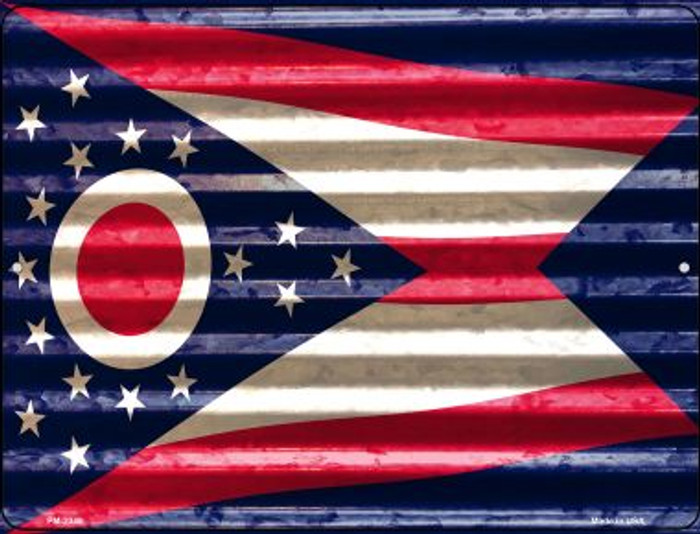 Ohio Flag Novelty Mini Metal Parking Sign PM-2349