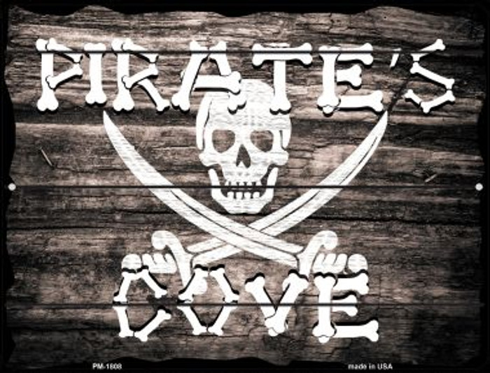 Pirates Cove Novelty Mini Metal Parking Sign PM-1808