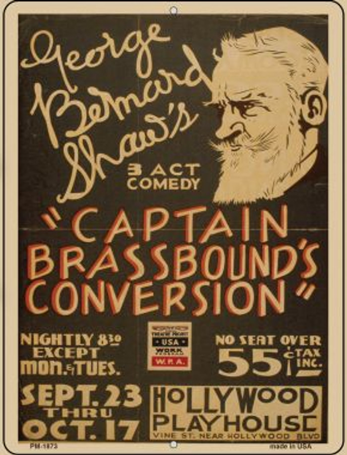 Captain Brasshounds Convo Novelty Mini Metal Parking Sign PM-1873