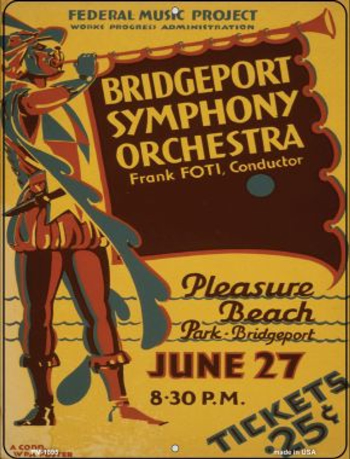 Bridgeport Symphony Orchestra Novelty Mini Metal Parking Sign PM-1895