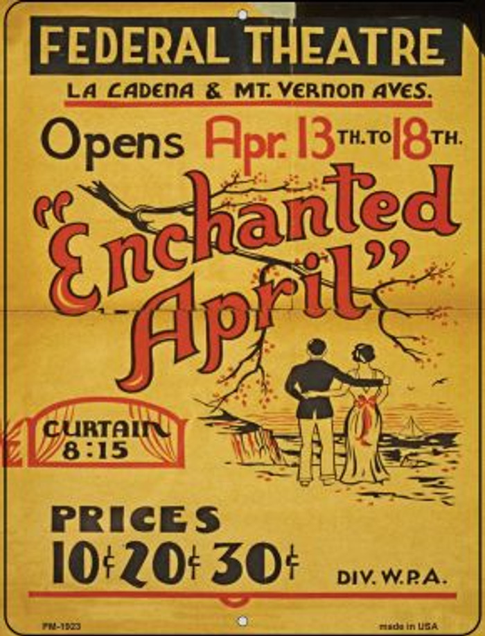 Enchanted April Novelty Mini Metal Parking Sign PM-1923