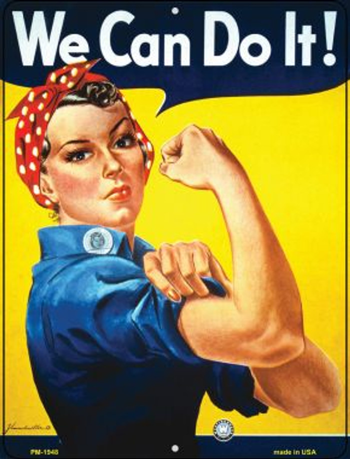 We Can Do It Novelty Mini Metal Parking Sign PM-1948