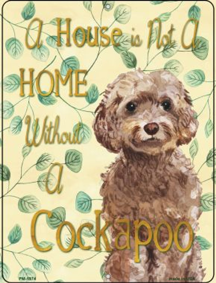 Cockapoo Novelty Mini Metal Parking Sign PM-1974