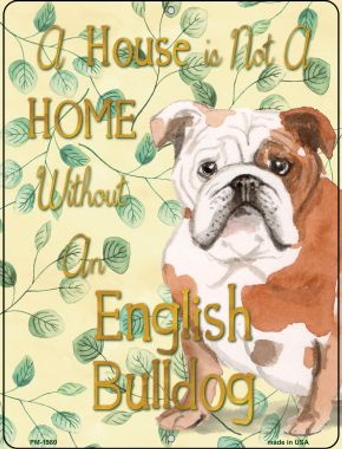 English Bulldog Novelty Mini Metal Parking Sign PM-1980