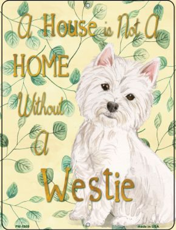 Westie Novelty Mini Metal Parking Sign PM-1989