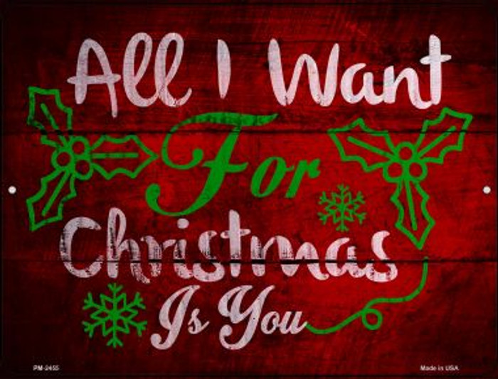 All I Want For Christmas Novelty Mini Metal Parking Sign PM-2455