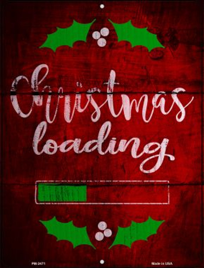 Christmas Loading Novelty Mini Metal Parking Sign PM-2471
